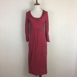Boden Long Sleeve Scoop Neck Wool Blend Dress 4L